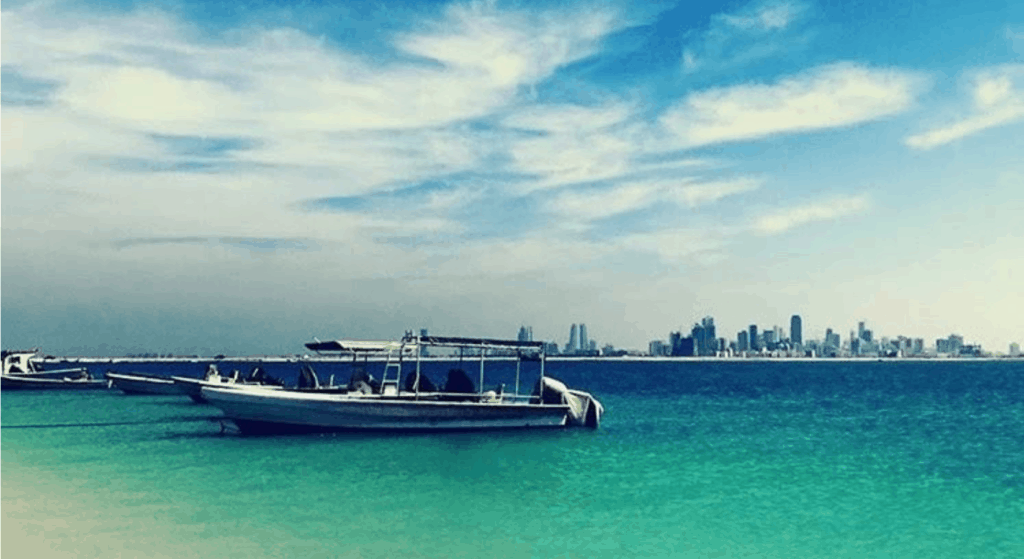 Journey to Becoming a Naturopathic Physician: View of Manama, Bahrain from Amwaj Island, Years after the Attack (2018)
